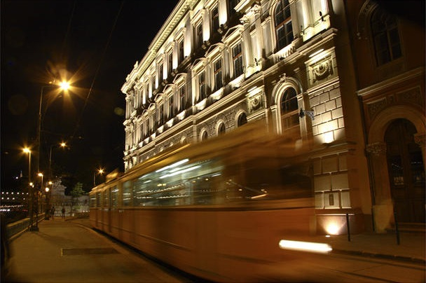Budapest: Tram on Buda Side of the Danube (2008)