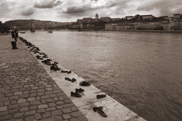 Shoes Along the Danube, Budapest, Hungary (2008)